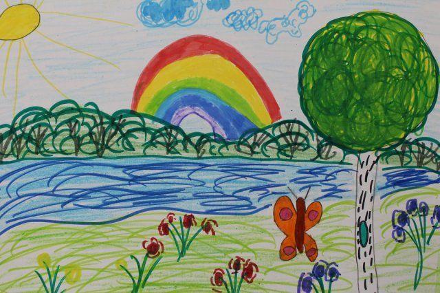 дети рисуют лето картинки